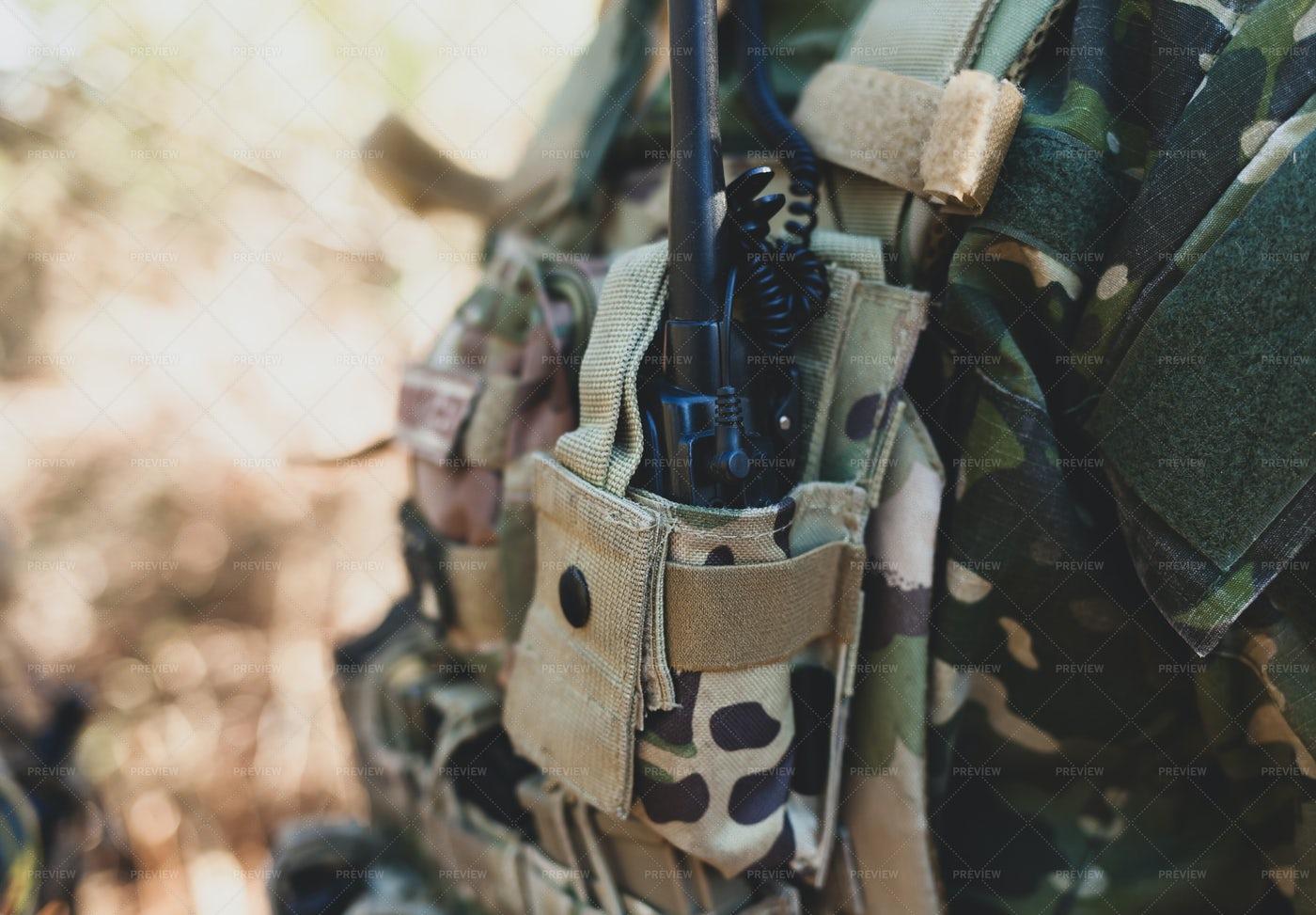 Military Radio Equipment: Stock Photos
