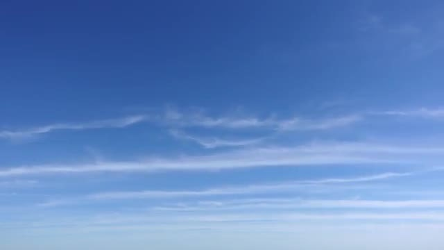 Wispy Clouds On Blue Sky: Stock Video