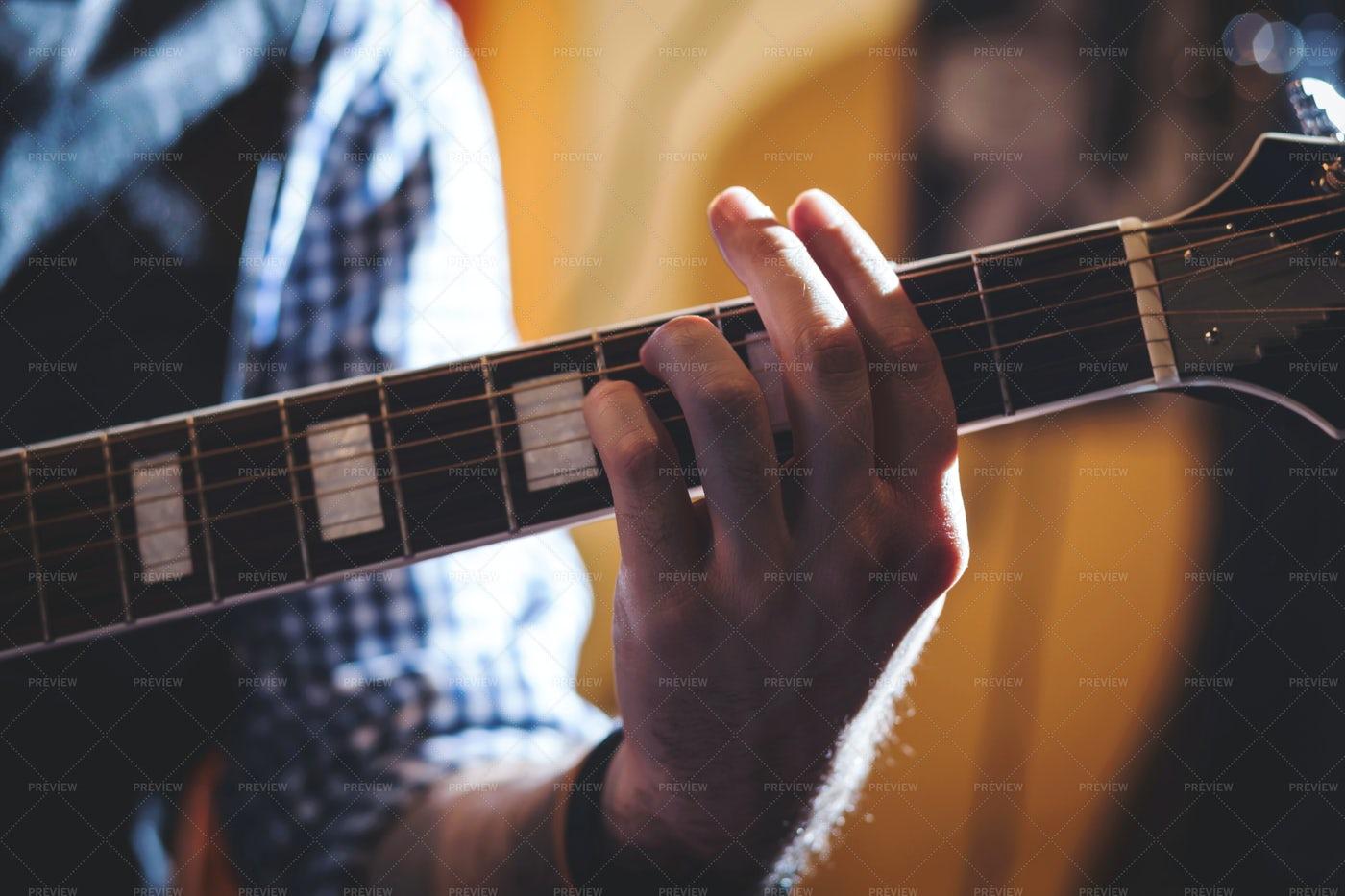 Playing Classic Guitar.: Stock Photos