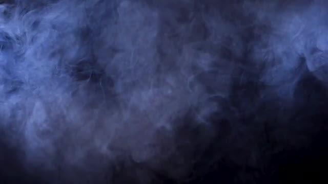 Medium Thick Smoke Black Background: Stock Video