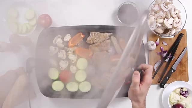 Lifting The Lid From Grill: Stock Video