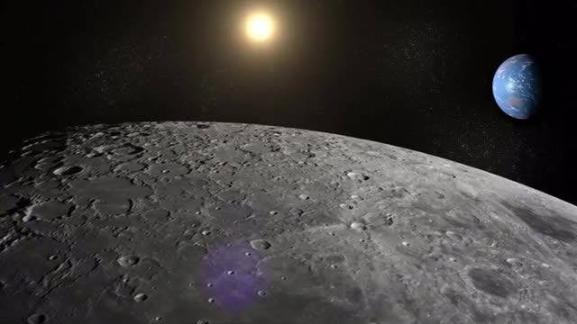 Moon, Earth And Sun: Stock Motion Graphics