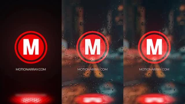Rainy Glitch Logo: After Effects Templates
