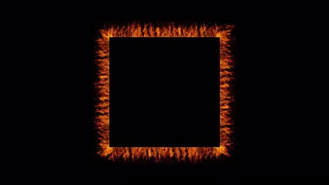 Fiery Square Frame: Stock Motion Graphics