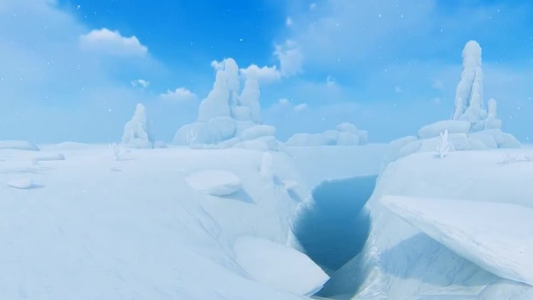 Snow In The Desert: Stock Motion Graphics