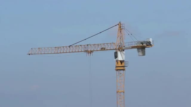 Tower Crane Time Lapse: Stock Video