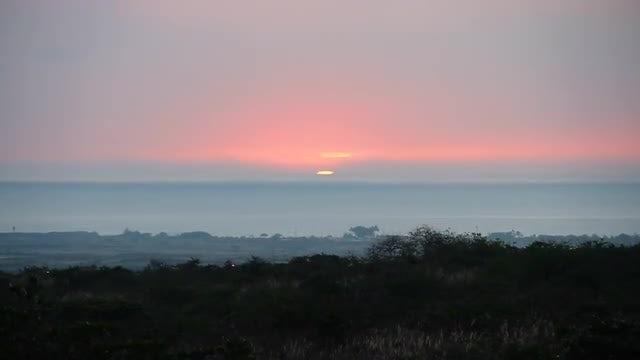 Panoramic View Of Ocean Horizon : Stock Video