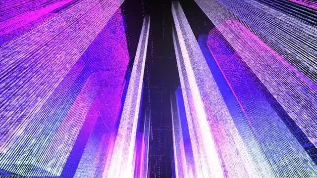 Flying Through Digital Neon City: Stock Motion Graphics
