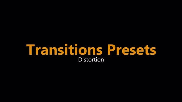 Distortion Blur Transitions Presets: Premiere Pro Presets