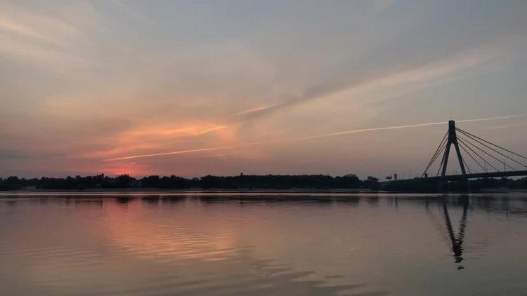 Time Lapse Of Beautiful Sunrise: Stock Video