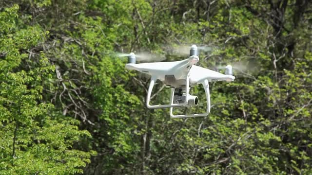 Close-Up Shot Of Drone Flying: Stock Video