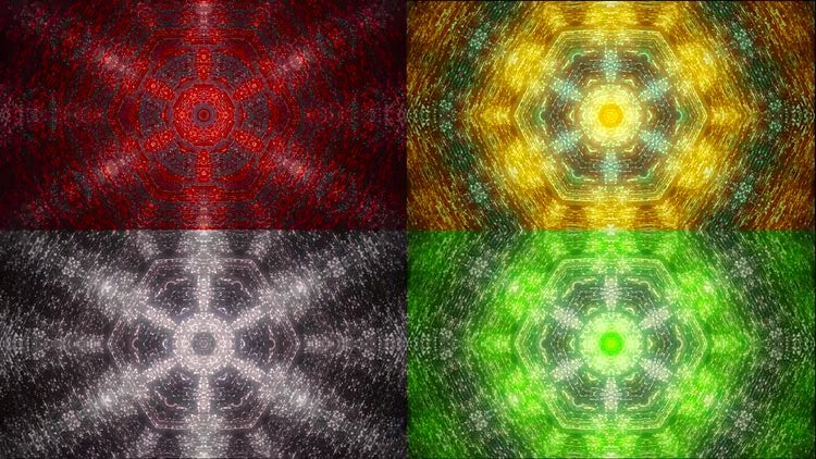Kaleidoscope Formations Backgrounds Set: Stock Motion Graphics