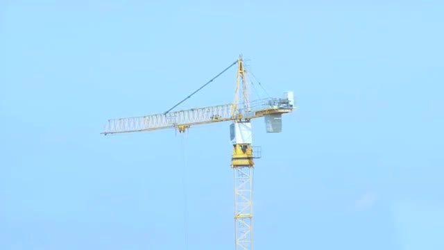 Tower Crane Working At Construction : Stock Video