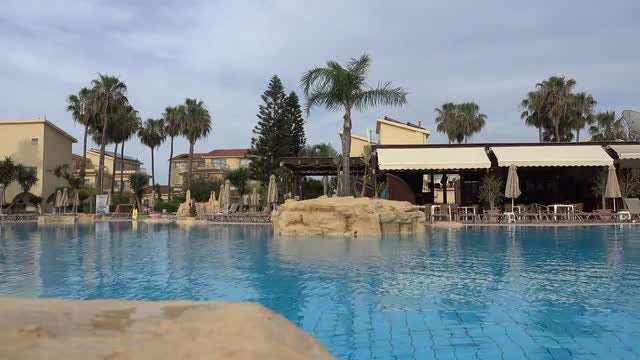 Quiet Outdoor Swimming Pool : Stock Video
