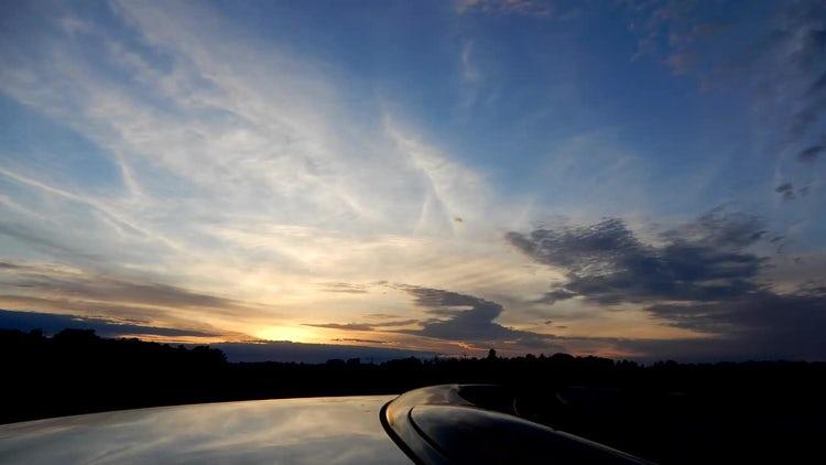 Time Lapse Of Beautiful Sunset: Stock Video