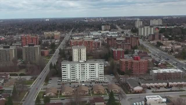 Aerial View Of Apartment Buildings: Stock Video