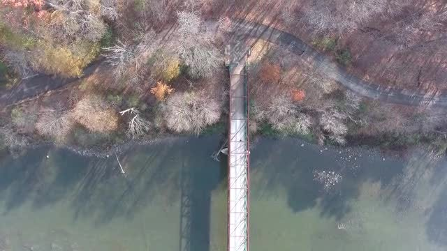 Aerial Shot Of Long Bridge: Stock Video