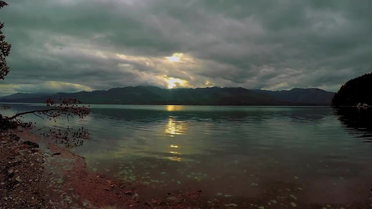 Time Lapse Of Olympic Mountains : Stock Video