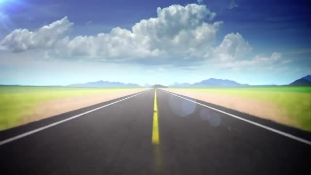Highway And Dynamic Sky Loop: Stock Motion Graphics