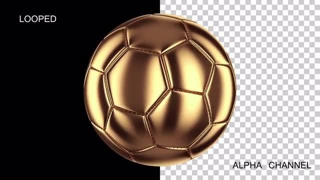 Golden Soccer Ball Loop: Stock Motion Graphics
