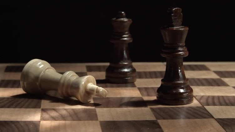 Chess Board With King Down: Stock Video