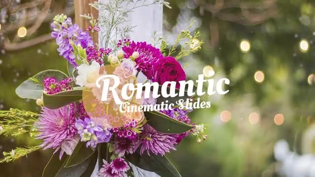 Romantic Cinematic Slides: Premiere Pro Templates