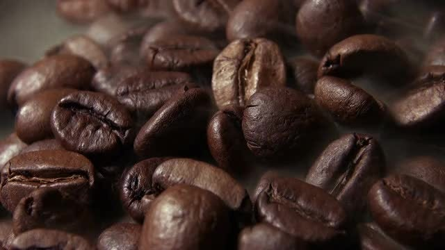 Brown Coffee Beans Roasting : Stock Video