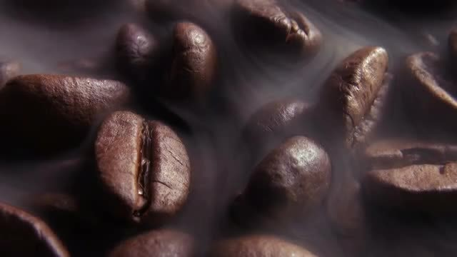 Close-up Of Coffee Beans Roasting : Stock Video