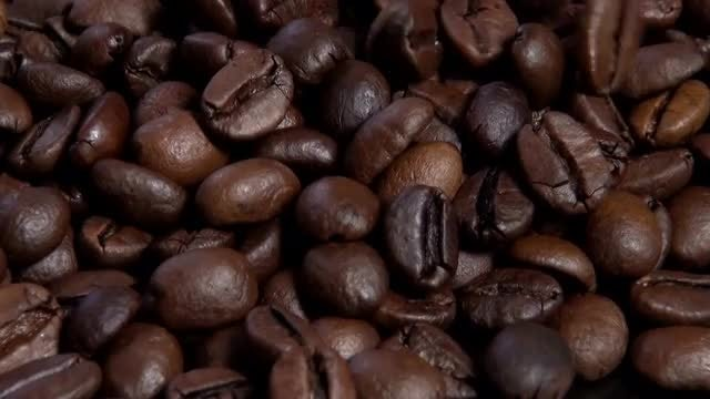 Close-up Of Brown Coffee Beans: Stock Video