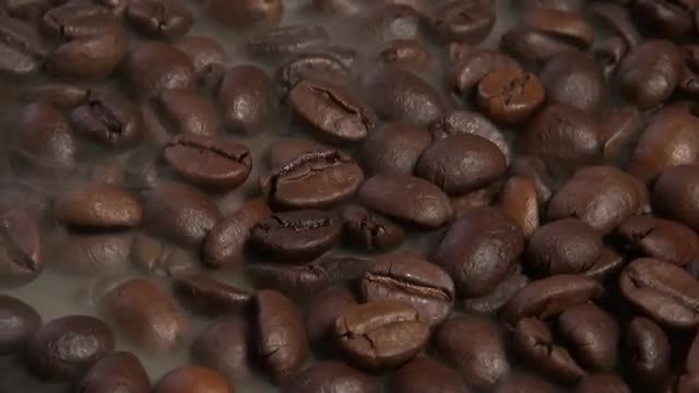 Brown Coffee Beans Roasting: Stock Video