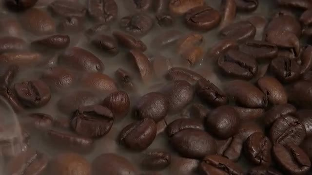 Roasting Brown Coffee Beans : Stock Video