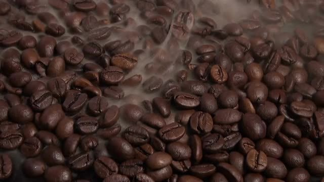 Coffee Beans In Roasting Machine: Stock Video