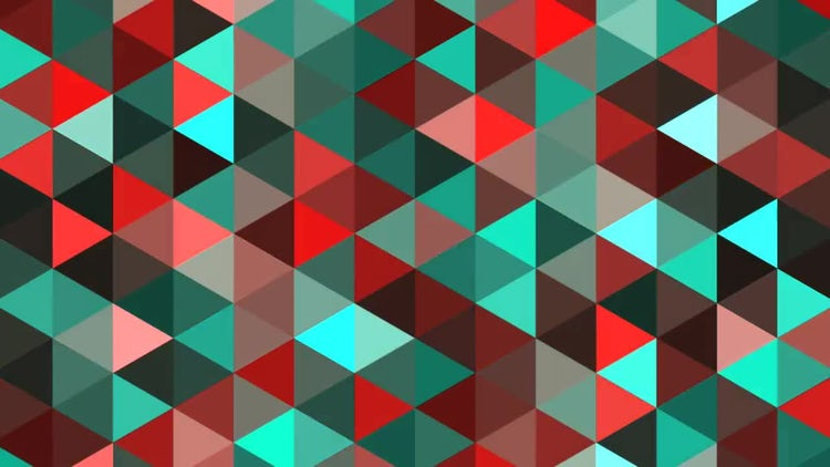 Red And Green Triangles: Stock Motion Graphics