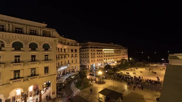 Thessaloniki In Greece: Stock Video
