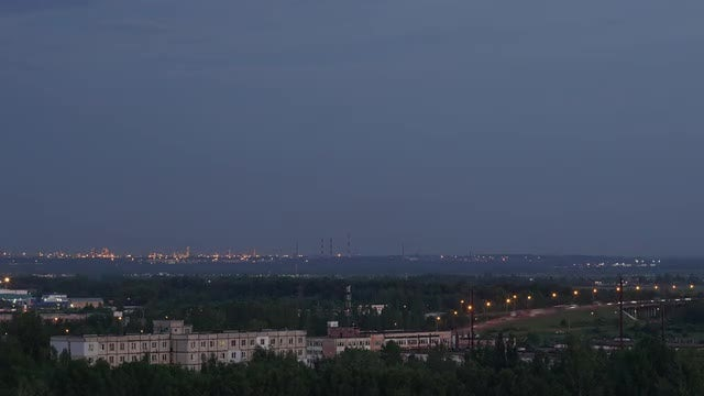 Evening In An Industrial City: Stock Video