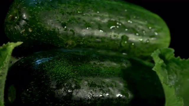 Whole Cucumbers Rotating Loop: Stock Video