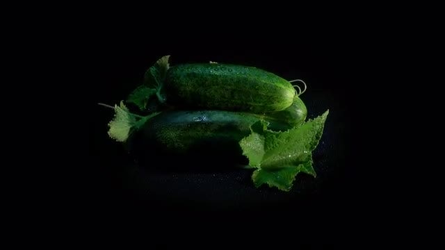 Cucumbers On Loop: Stock Video