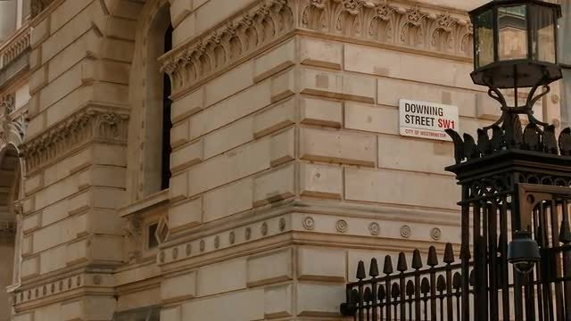 Close-up Shot Of Downing Street: Stock Video