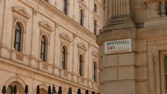 Whitehall, London, England, UK: Stock Video