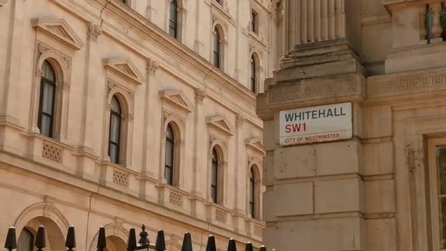Whitehall, London, England, UK: Stock Video