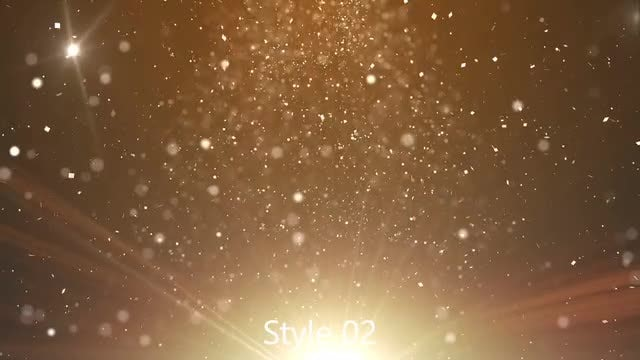 Glittering Particles Pack: Stock Motion Graphics