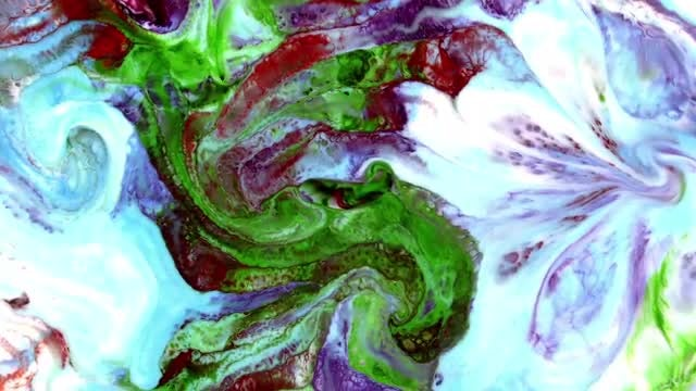 Texture Designs Of Colored Paints: Stock Video