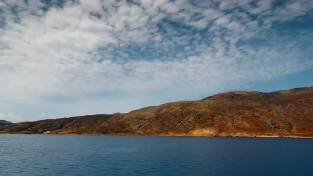 Hyper Lapse Of Remote Island: Stock Video