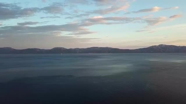 Aerial Tilting Shot Of Ocean: Stock Video