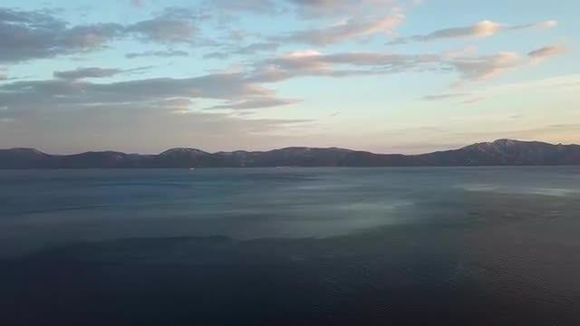 Aerial Tilting Shot Of Ocean: Stock Video