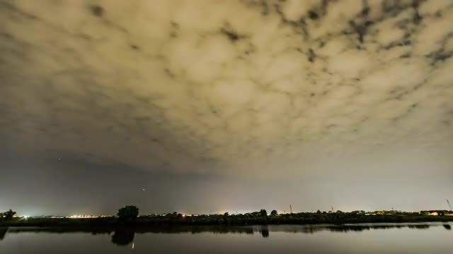 Milky Way Clouds Time Lapse: Stock Video