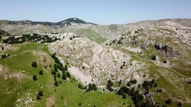 Mountain Nature Aerial: Stock Video