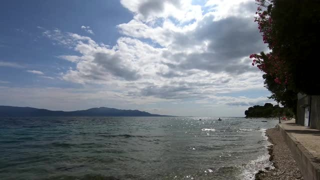 Ocean And Sky Slow Motion: Stock Video