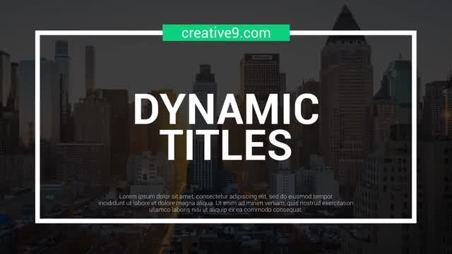 Dynamic Line Titles: After Effects Templates