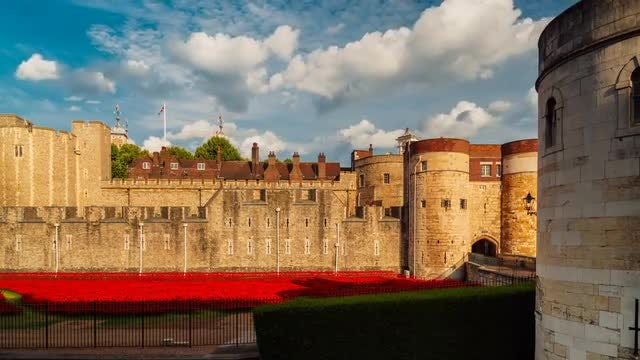Tower Of London Time Lapse: Stock Video